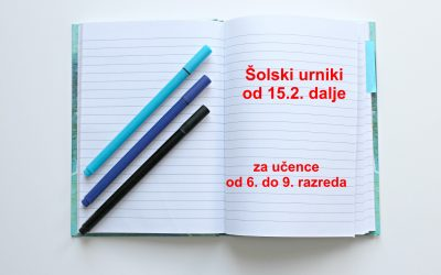 Vrnitev učencev od 4. do 9.r v šolo in novi šolski urniki