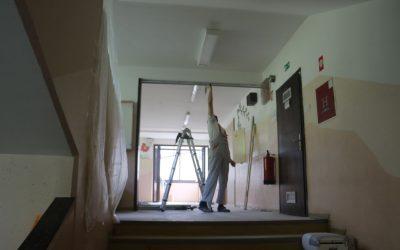 Stekla prenovitvena dela za pripravo prostorov 10. oddelka